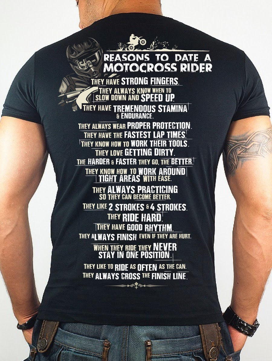 Reasons to date a motocross rider T-Shirt