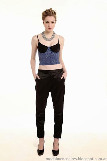 Sieben primavera verano 2014 vestidos, blusas, shorts moda casual chic.