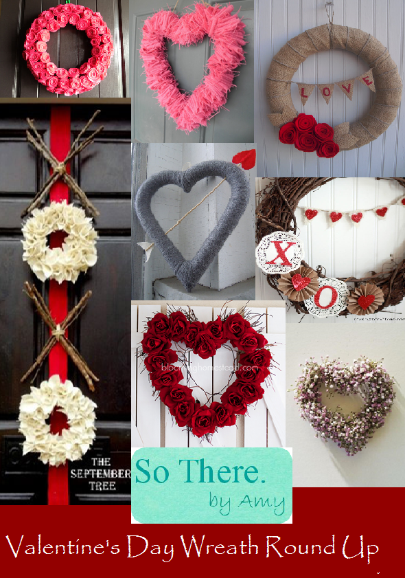 valentine wreaths for your front doorSo There January 2014