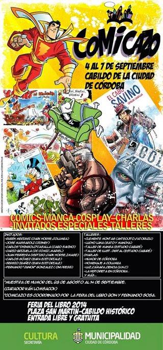 Comicazo en Córdoba, 4 al 7 de septiembre