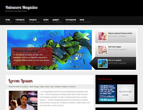 Habanera Magazine Blogger Theme