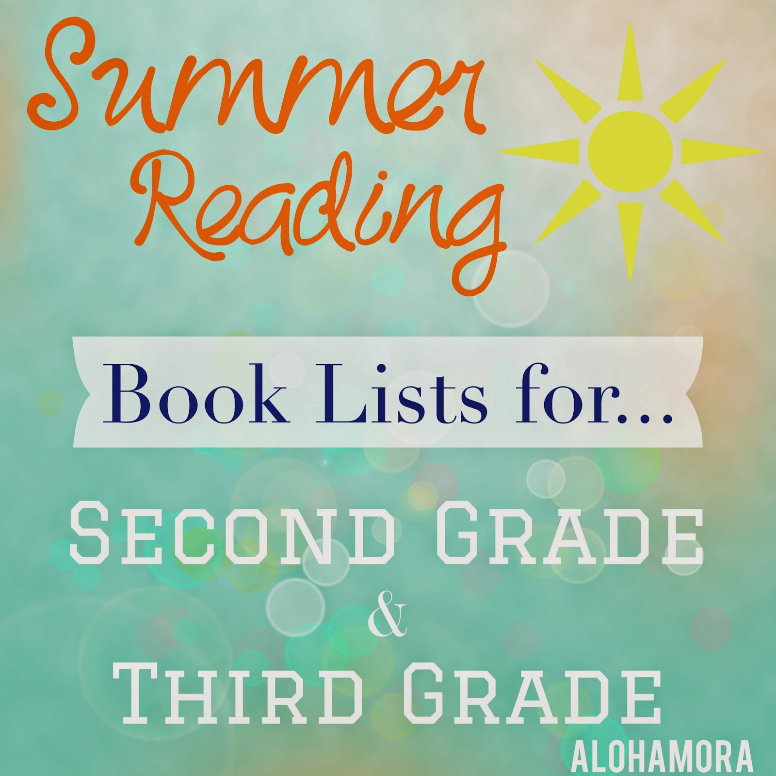 Alohamora Open a Book Summer Reading for Second 2nd and Third