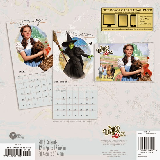 Curiozity Corner: Wizard of Oz 2016 Calendars