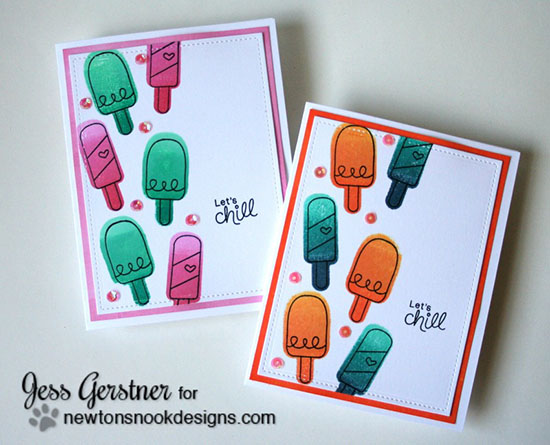 Ice Cream Cards by Jess Gerstner| Summer Scoops Stamp set by Newton's Nook Designs