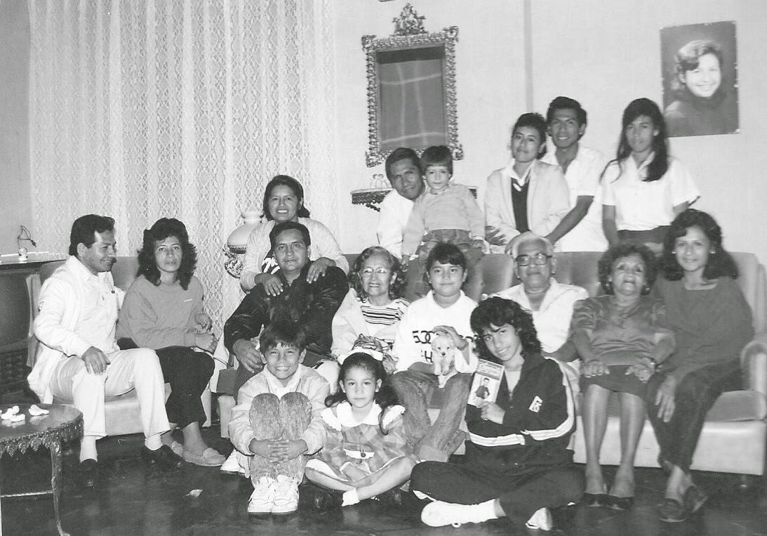 Rodeado de mi familia en la línea materna