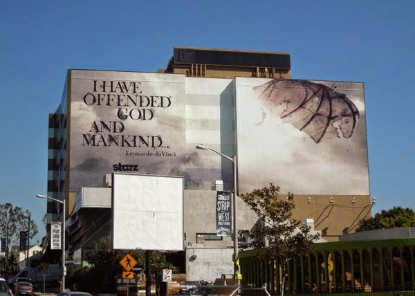 Da Vinci's Demons season 2 teaser billboard Sunset Strip