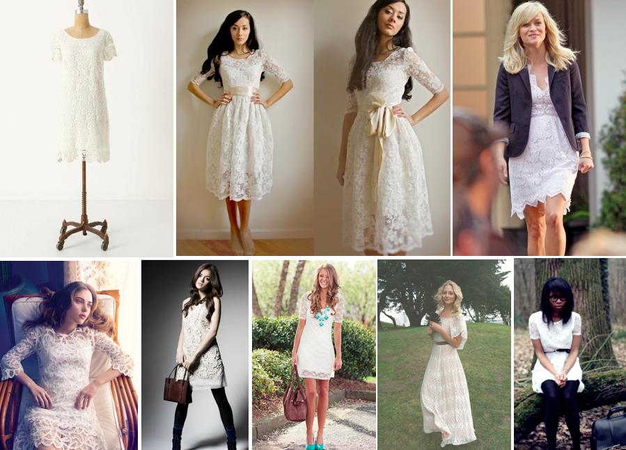 Tissue lace dresses