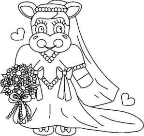 wedding coloring pages, girl coloring pages
