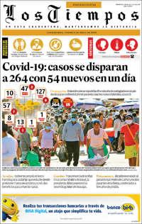 09/04/2020       BOLIVIA   UNA  PRIMERA PÁGINA DE LA PRENSA