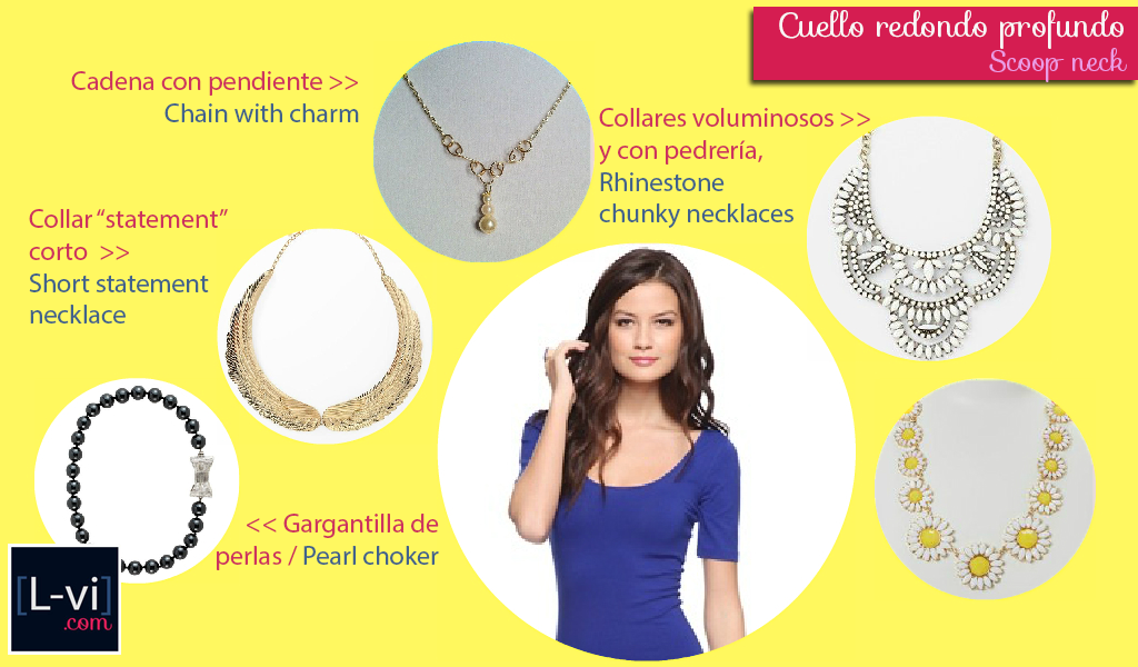 [How to: Necklines & Necklaces] Cuellos y Collares - Scoop neck  L-vi.com