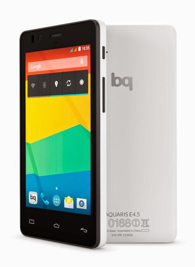 Smartphone BQ Aquarius E4.5 Dengan OS Ubuntu Pertama