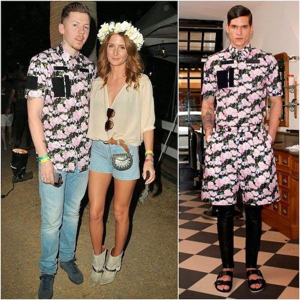 Professor Green's rose print Givenchy shirt - California