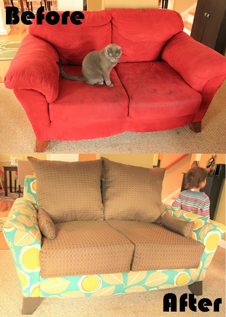 reupholster couch loveseat