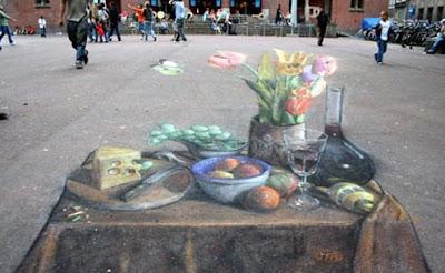 Fruit Painting Optical Illusion