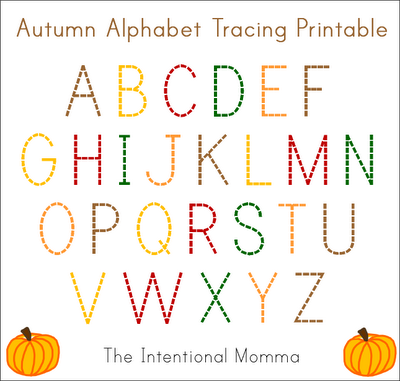teachers moms homeschooling preschooler kindergarten pre-k fall abc pumpkin