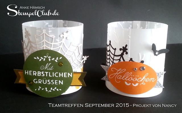 Teelichter für Herbst und Halloween mit Stampin' Up!