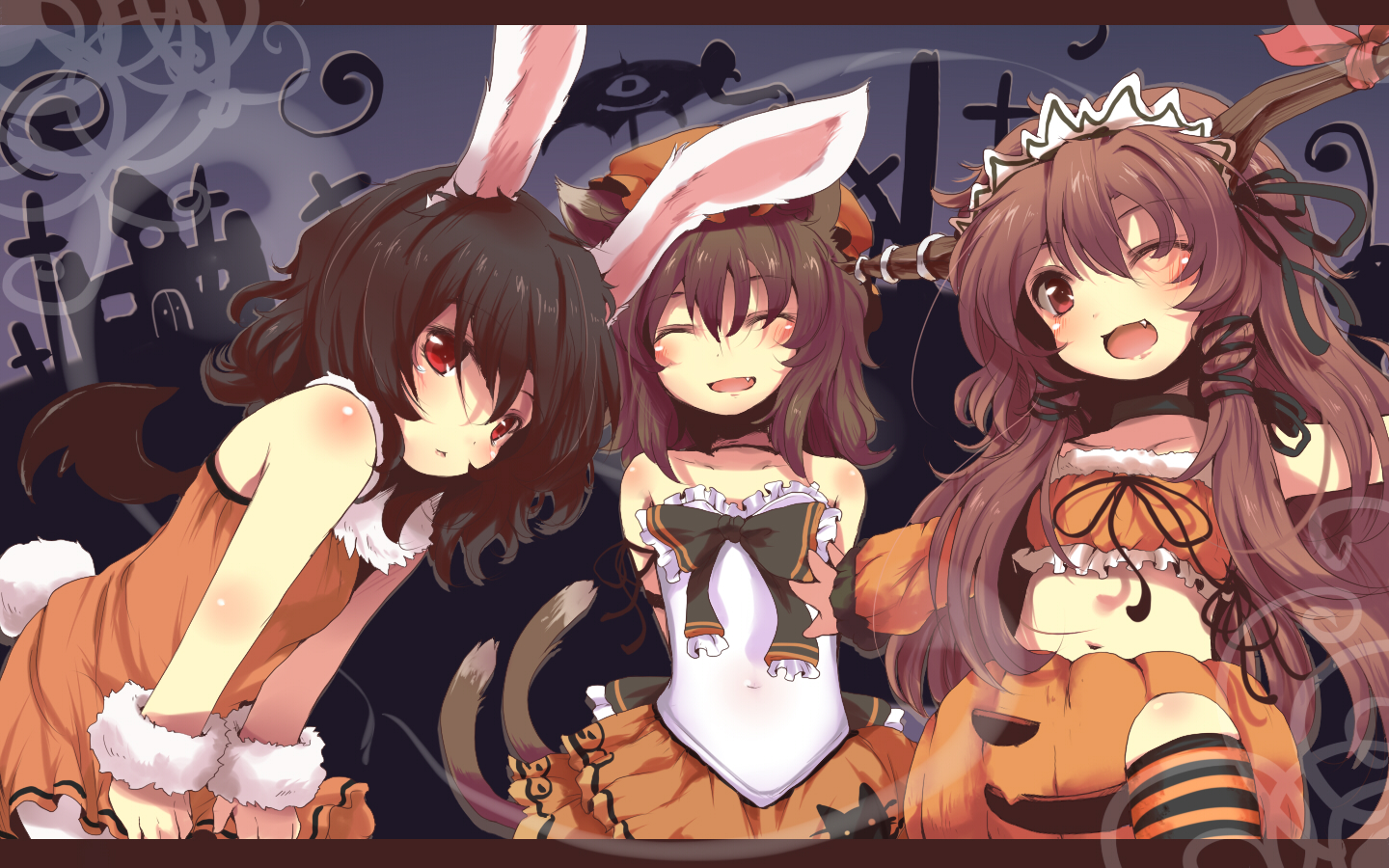 Anime Characters For Halloween : Anime halloween girl wallpaper hd area