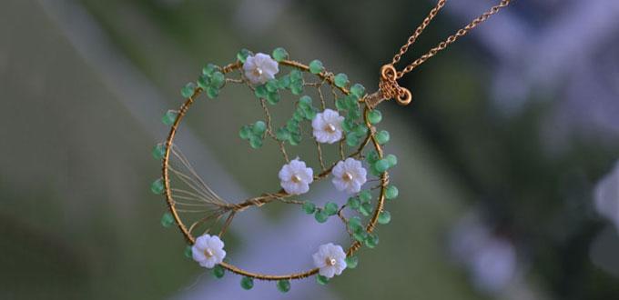Perlen - Der Schatz des Meers: Baum-Anhänger-Halskette-DIY