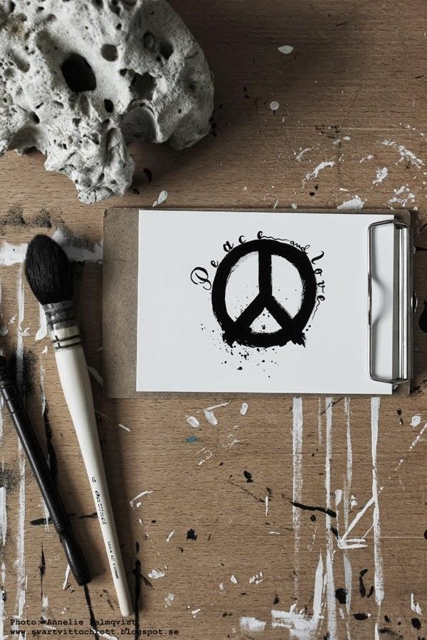 peace. peacemärke, peacemärket på tavla, tavlor, tavlorna, svart och vitt, svartvita prints, konsttryck, poster, vykort, inredning, artprint, artprints,