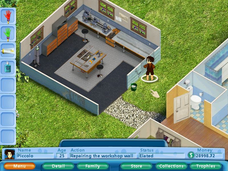 how to use wall repair compound in virtual families