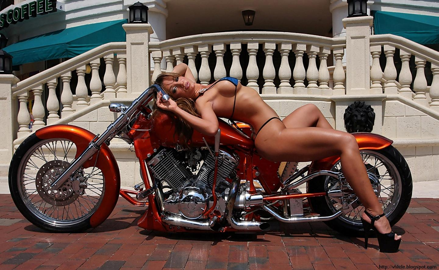 free naked girls on bike hd wallpapers