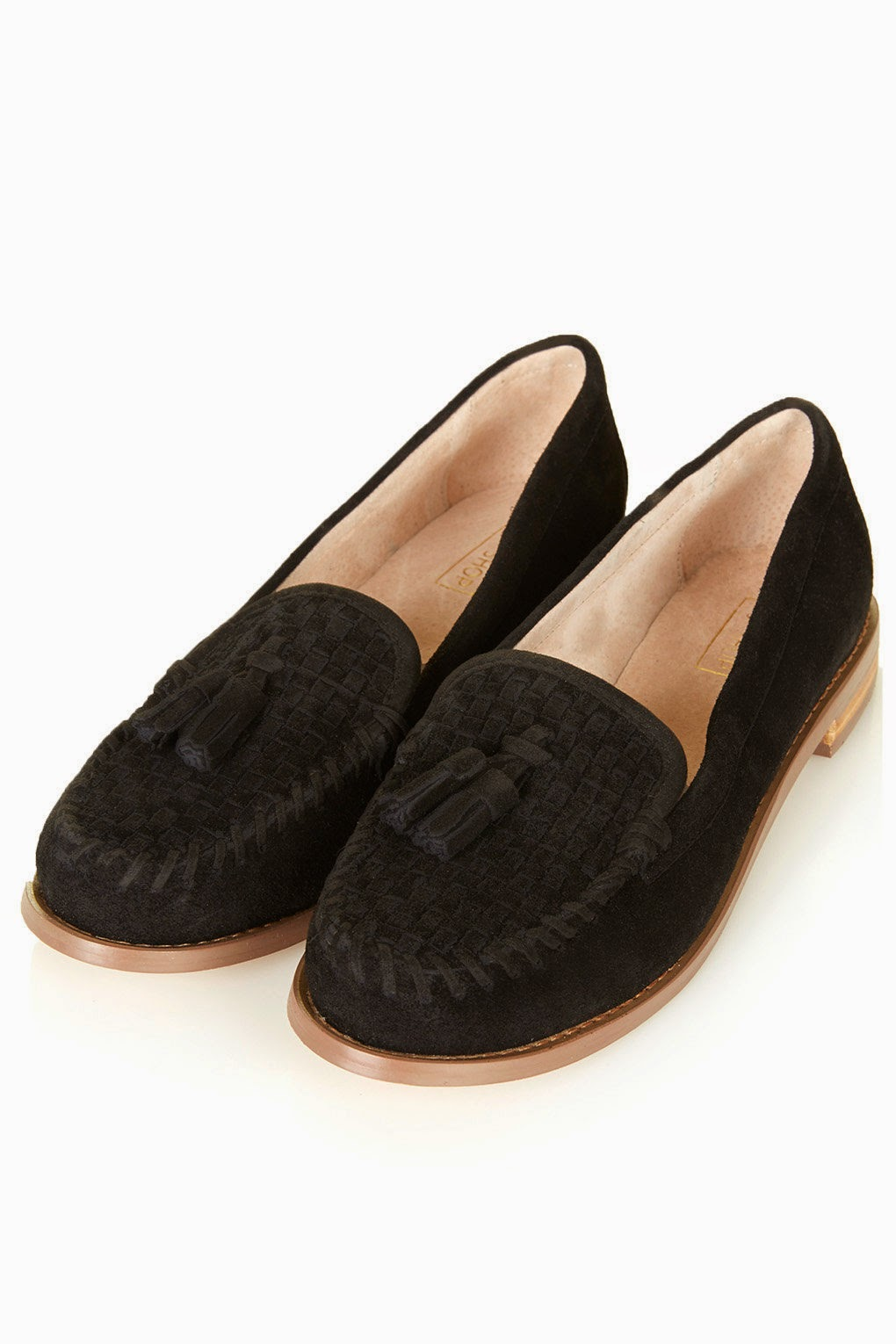 black suede tassel loafers, black suede shoes topshop,