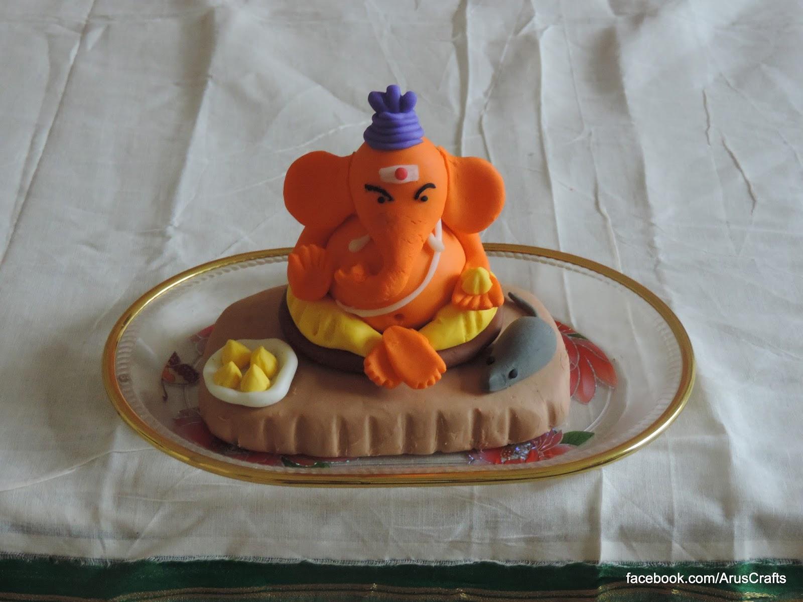 aru's crafts: clay ganesha