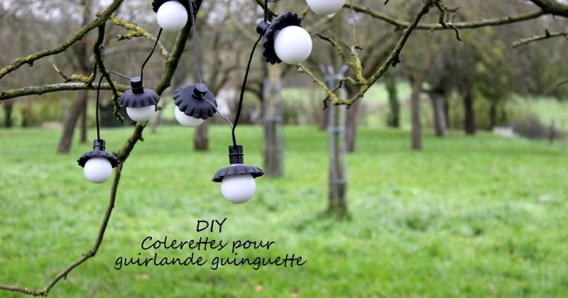 Atelier rue verte le blog diy des collerettes pour ma guirlande guinguette - Guirlande guinguette ikea ...