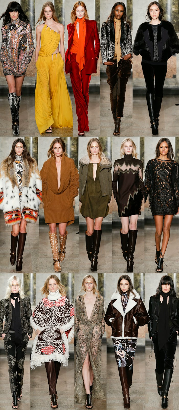 Emilio Pucci by Peter Dundas fall winter 2014 runway collection, FW14, AW14, MFW, Milan fashion week