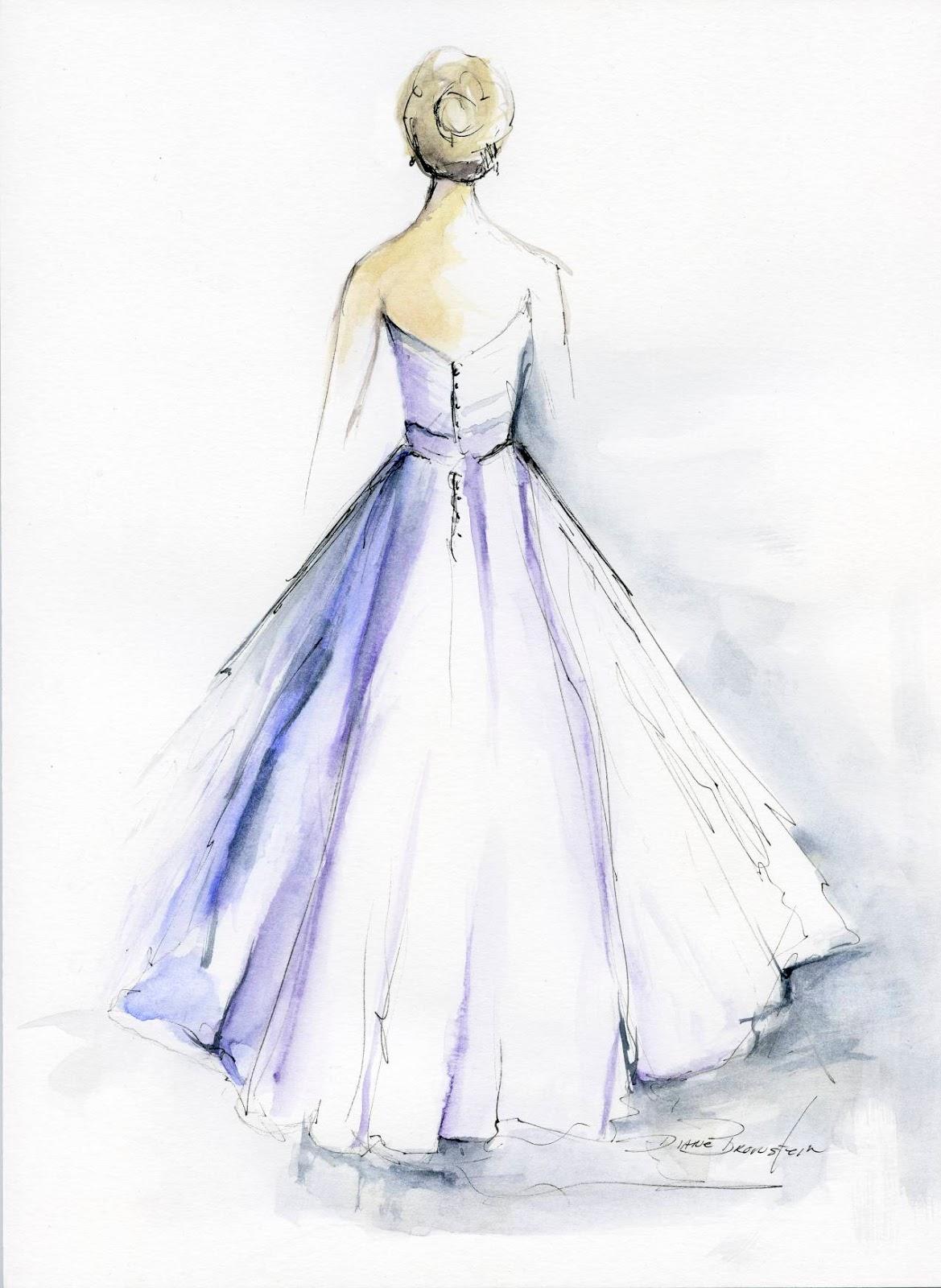 Wedding Dress Paintings by Diane Bronstein – KnotsVilla