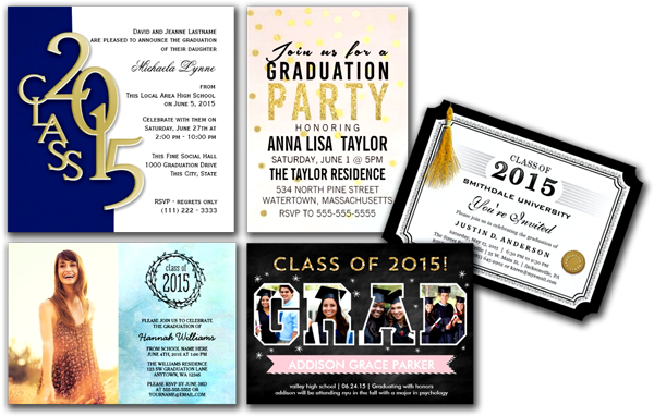 Class of 2015 Graduation Party Invitations