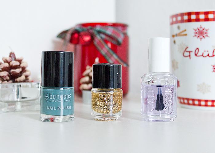 Christmas Manicure Primark Benecos Essie