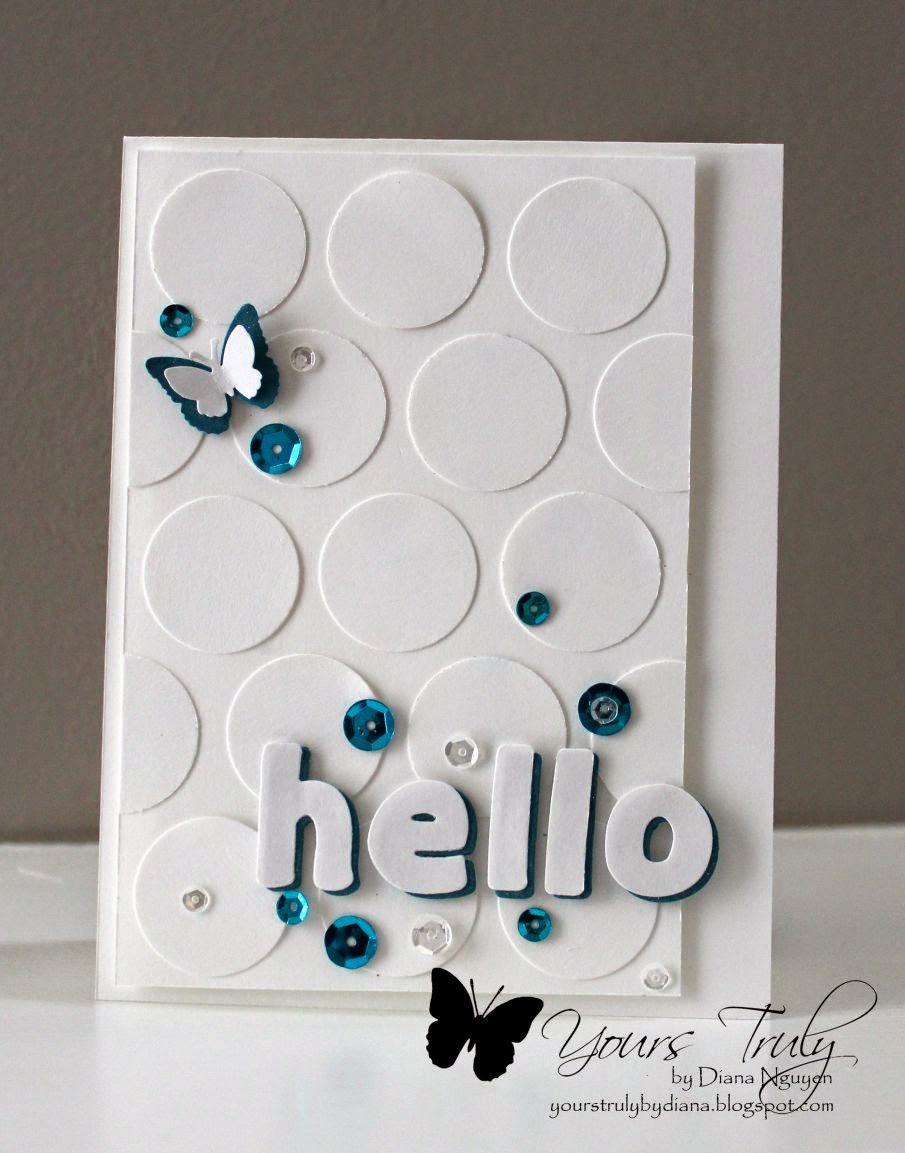 hello card, lawn fawn, alphabet, card, Diana Nguyen