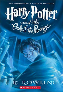 "Book cover: ""Harry Potter and the Order of the Phoenix"" by J.K. Rowling"