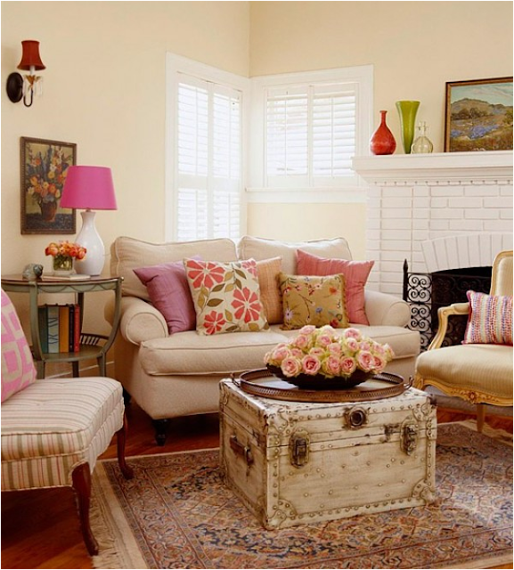 Key interiors by shinay country living room design ideas for Modern cottage living room ideas