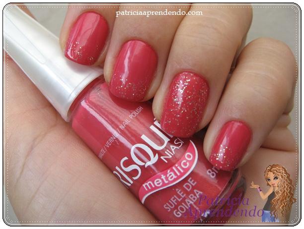 Rosa goiaba metálico com glitter