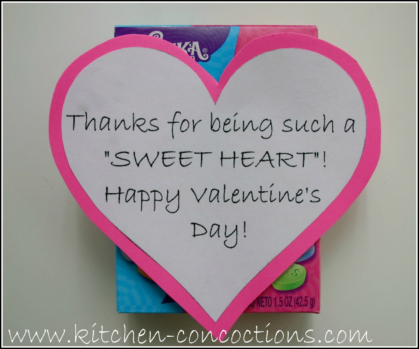 How To Valentines Day Candy Cards Kitchen Concoctions – Valentines Cards Words