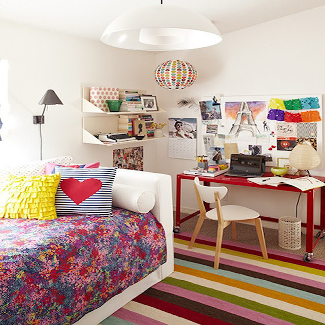 Colorful Teenage Girl Bedroom Ideas