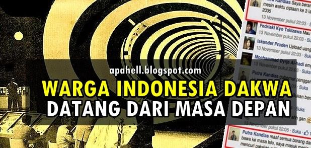 Warga Indonesia Dakwa Berasal Dari Tahun 2035