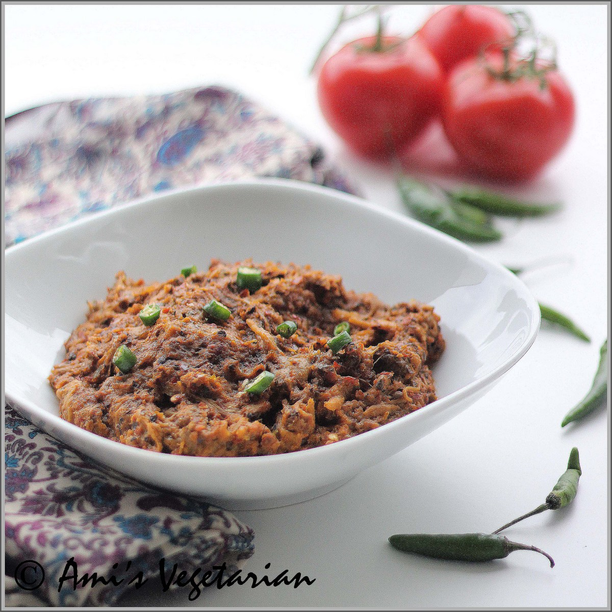 Baingan Bharta (Roasted eggplant with Indian spices) | Ami's ...