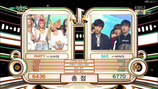 Infinite Bad Third Win on KBS Music Bank