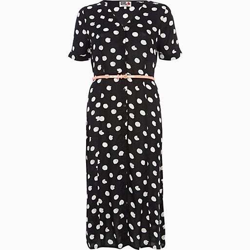 river island spotty dress
