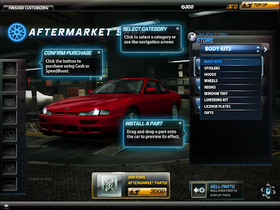 Need For Speed World - Aftermarket Shop