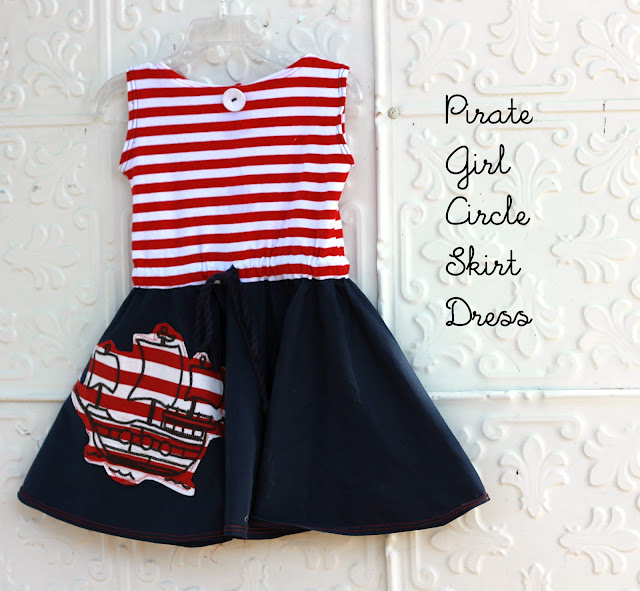 pirate girls dress tutorial