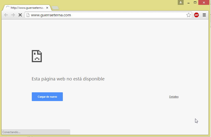 Página web bloqueada