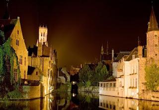 Brujas Bélgica Noche