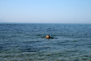 In the sea and loving it