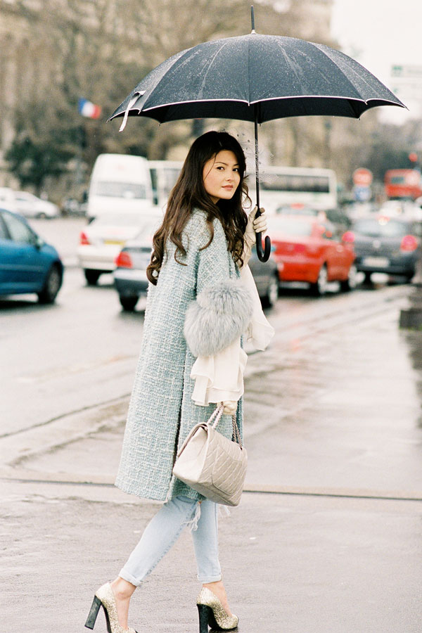 Vanessa Jackman New York And Paris Fashion Weeks AW 2012....Homage To The Umbrella
