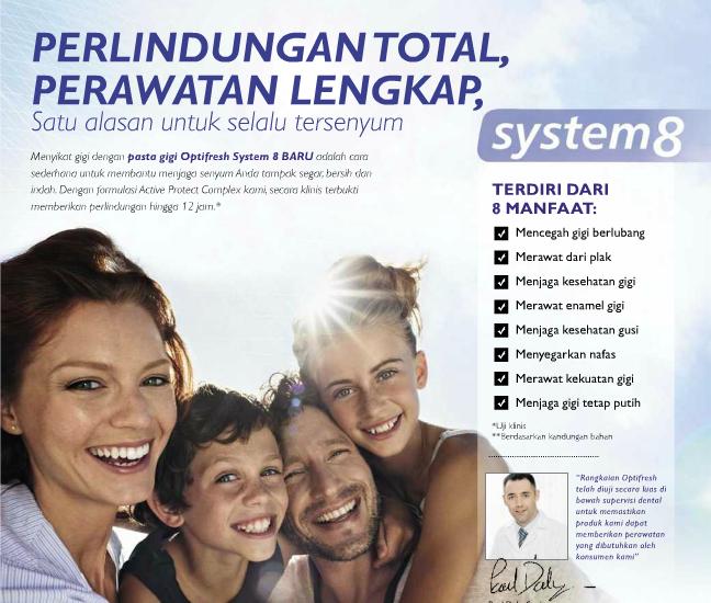 Katalog Oriflame Indonesia 8 Manfaat Optifresh System 8 By Oriflame