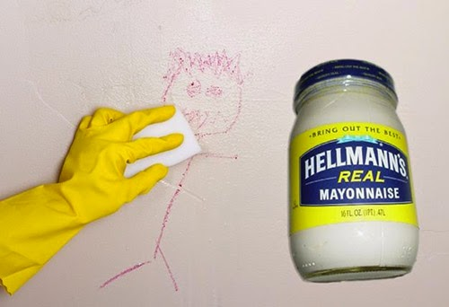 Mayonesa para borrar dibujos